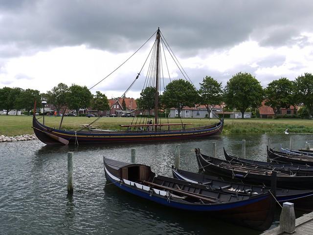 Viking Ship Recreation in Dock