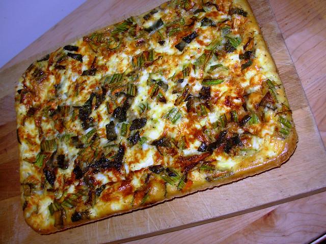 Zucchini blossom, mint, fresh ricotta frittata | Explore fut ...