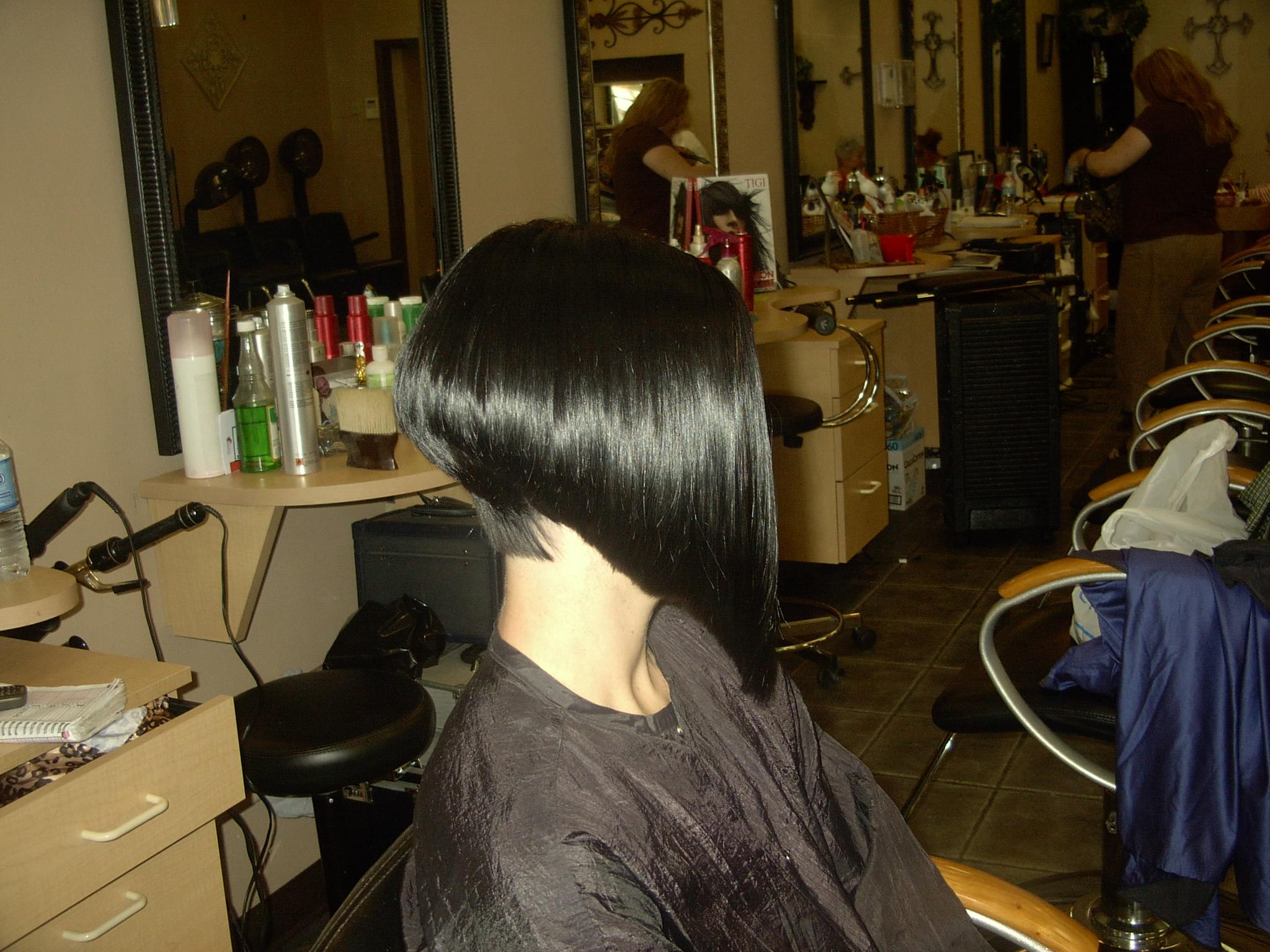 Long Angled Bob Hairstyles Back View Linda angled bob cut