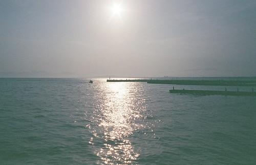 sunset japan contax g1 enoshima kanagawa 夕日 江ノ島