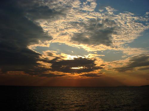 sunset sea sky holiday bird turkey istanbul deniz bulutlar bursa kus gokyuzu gunbatimi colouds