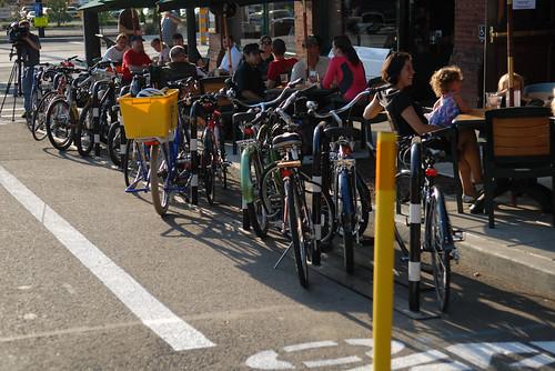 Bikes Portland Widmer Bike Corral