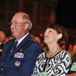 Gen. Craig R. McKinley, the chief of the National Guard Bureau, and his wife, Cheryl, attend opening ceremonies for the 131st National Guard Association of the United States General Conference