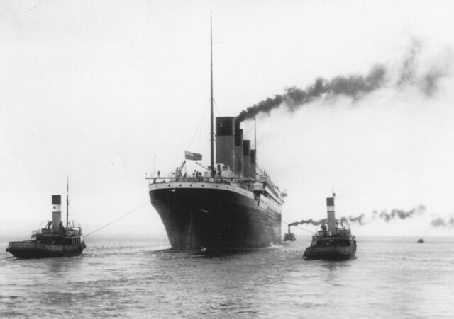 Titanic 1912 beginning the trip