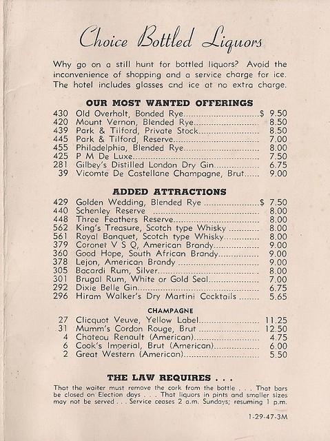 1947 Hotel New Yorker Room Service Menu (3)