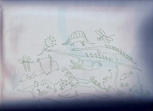 鲨齿龙简笔画_恐龙
