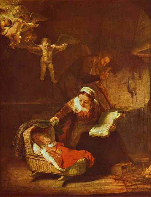 Rembrandt. Holy Family. 1645. Oil on canvas. The Hermitage, St. Petersburg, Russia.