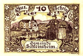 Schleissheim, 10 heller, 1920