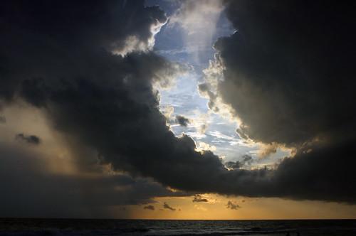 ocean sunset summer vacation sky cloud reflection beach gulfofmexico water canon florida 2009 2470l marcoisland 40d