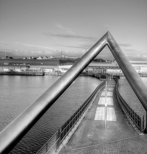 The Celtic Gateway Footbridge in Holyhead, Anglesey, North Wales