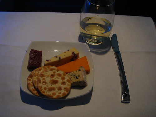 Air Canada International Executive First Class Wine and Cheese
