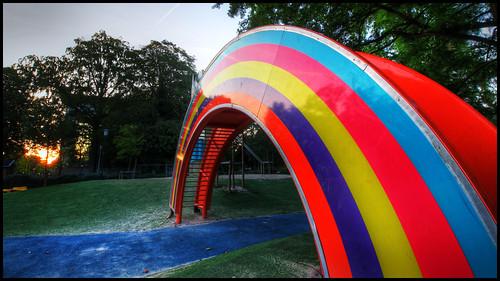 Good Morning Malmö - Rainbow slide - Regnbågsrutschkana