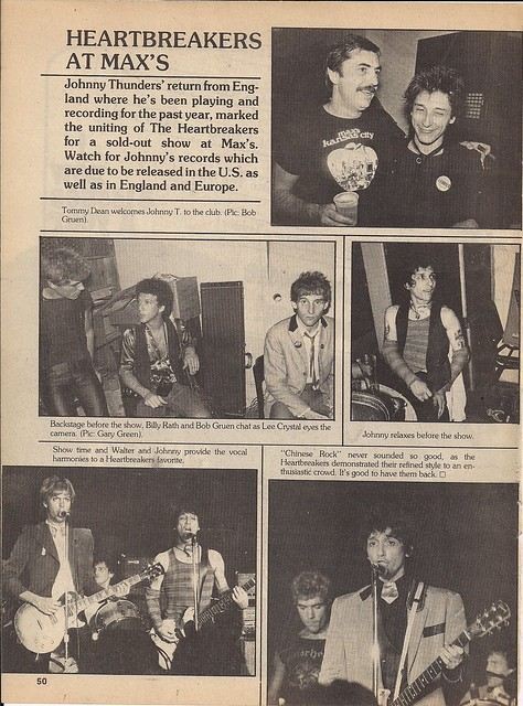 Rock Scene Magazine 1978: Heartbreakers at Max's Kansas City