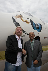 Sir Richard Branson and Mohamed Badawy Al Husseiny CEO of Aabar. Credit Mark Greenerg
