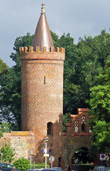 Stadtmauer, Fangelturm und Wall