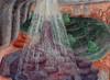 "Deluged Walker,  2007,  oil/linen,  48"" x 66"""