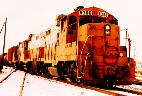 Eastbound Illinois Central Gulf transfer train. Chicago Illinois. January 1986. by Eddie from Chicago