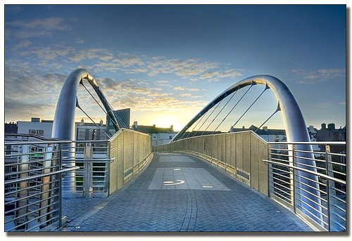 The Celtic Gateway Footbridge in Holyhead, Anglesey
