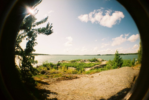 st marys river joseph island canada algoma ontario lomo lomography fisheye matthews lighthouse