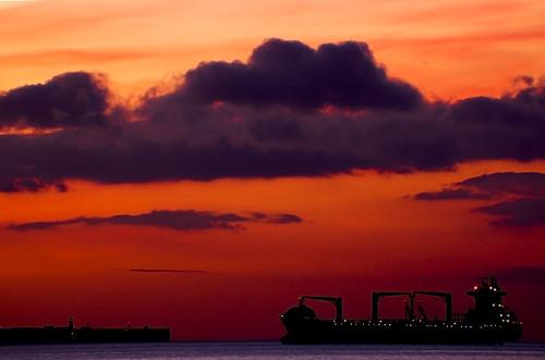 sky sol beach night clouds sunrise see noche mar playa colores andalucia amanecer cielo nubes gibraltar nocturnas algeciras estrecho tonos flickraward