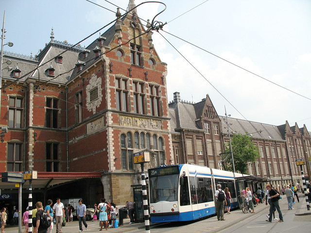 Amsterdam Train Station And Tram Flickr Photo Sharing