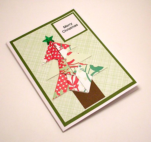 Paper Red 28 Photos | Origami Christmas Tree card | 140