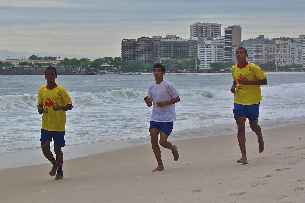 Runing in Copacabana
