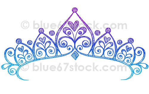 Hand Drawn Sketchy Princess Tiara Crown Doodle Drawing Vec How To Draw A Princess Crown
