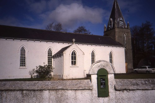 Church with post box, Glencolmcille Co. Donegal  March 1991.