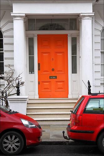orange door