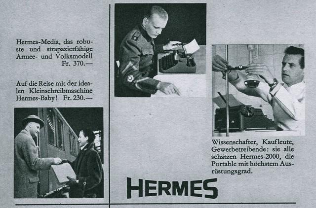 Du 1953-04 Hermes models detail