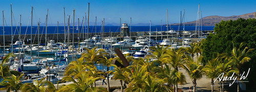 Panorámica de Puerto Calero, Lanzarote