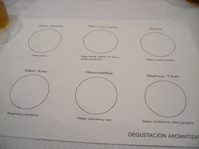 degustación aromatizada - cata de tés - la cambra dels vins - castellón