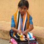 Girl Selling Colorful Scarves - Juayua, El Salvador