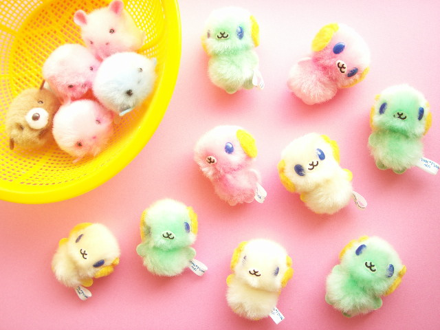 Kawaii cute pom pom mascot tiny dolls craft ideas supplies for Cute pom pom crafts