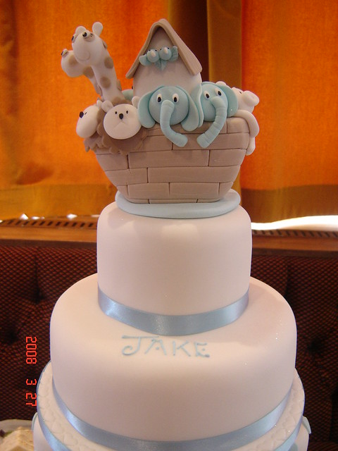 Square Christening Cake Images