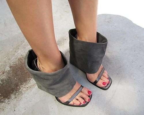 Af Shoes Ankle C Hl Heel Round Pump Leather