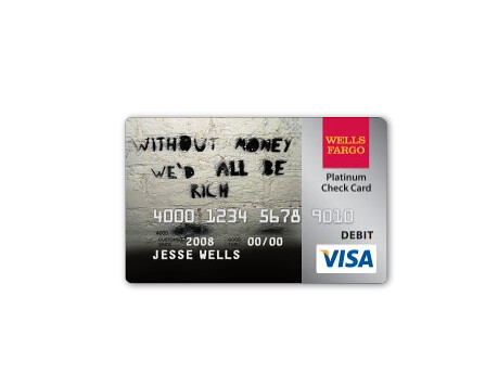 similiar wells fargo pma debit card keywords - Custom Visa Debit Card