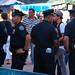 Cops chit-chatting at the San Gennaro festival