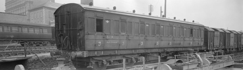 NCC Ex MR Coach 14102 at York Rd 06-01-1950