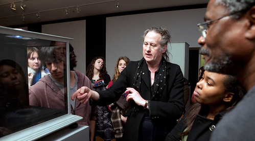 Quay Brothers meet with art students