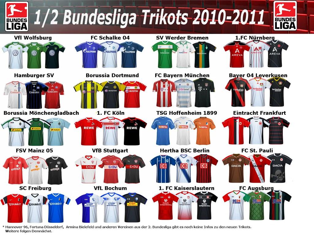 Bundesliga trikots der saison 2010 2011 for Bundesliga trikots