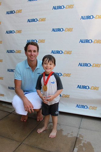 Jack with Olympic Gold Medalist, Aaron Piersol