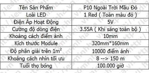Module P10 Qiangli Ngoài Trời