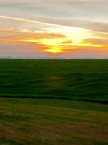 sunset summer sun field john landscape dusk farming grain agriculture demke