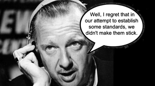 Satirical image of Walter Cronkite