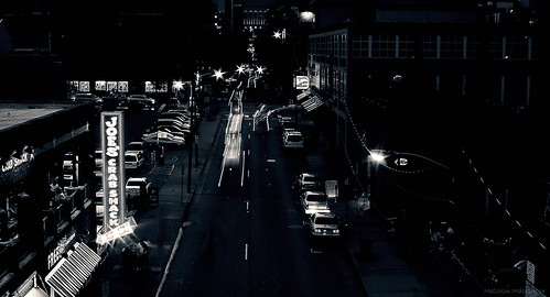 street city blackandwhite cars night downtown nashville tennessee explore frontpage joescrabshack thechallengefactory