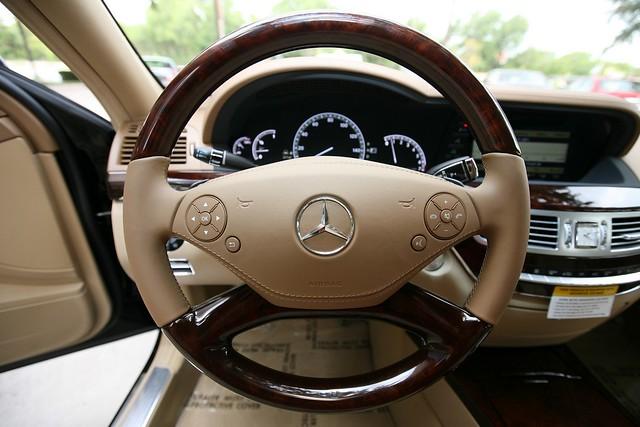 2010 mercedes benz s550 wood leather steering wheel for Mercedes benz wood steering wheel