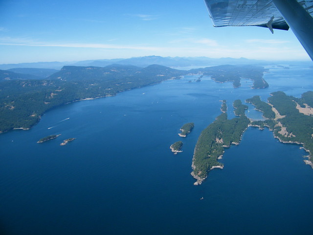 Saltspring Island from the air