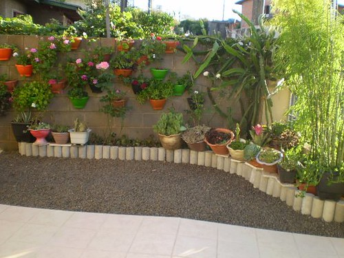 jardim vertical em muro:Canto do muro com jardim vertical